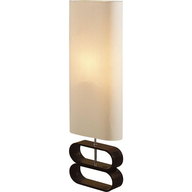 Buy collection kari floor lamp cream and dark wood at for Argos wood floor lamp