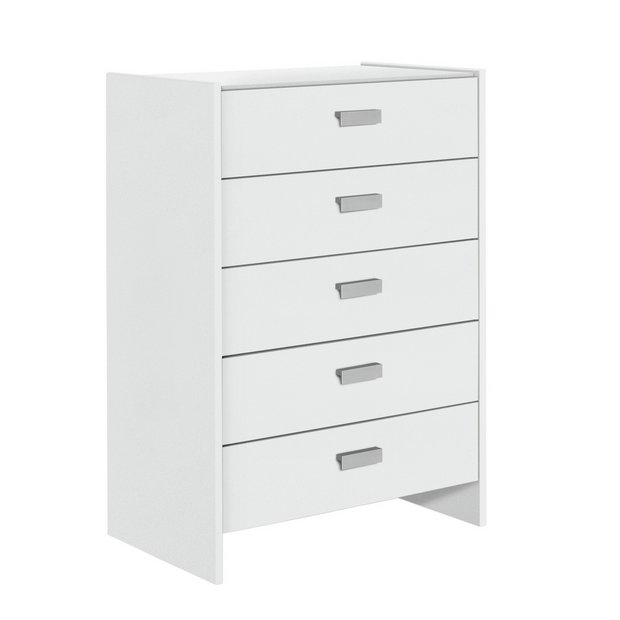buy home new capella 5 drawer chest white at. Black Bedroom Furniture Sets. Home Design Ideas