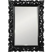 Heart of House Isabella Rec High Gloss Wall Mirror - Black