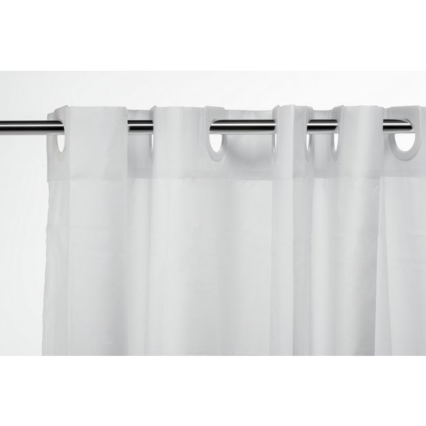 Plain shower curtains argos curtain menzilperde net for Bathroom accessories argos
