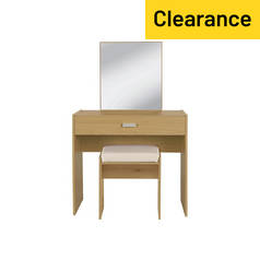 HOME Capella Dressing Table, Stool & Mirror
