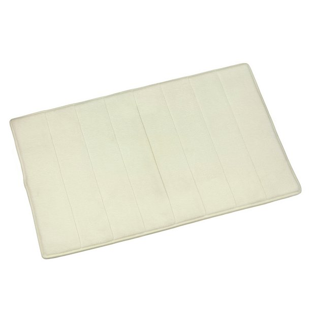 buy croydex quick dry foam bath mat large cream at argos. Black Bedroom Furniture Sets. Home Design Ideas