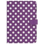 more details on Universal 7/8 Inch Polka Dot PVC Tablet Case - Purple.