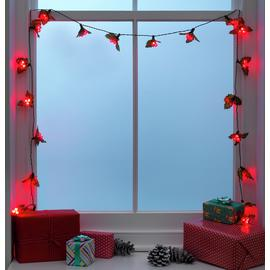 Argos Home 20 Red Holly and Berry Christmas Tree Lights - 3m