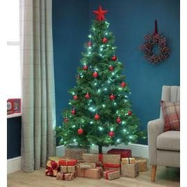 Argos Home 6ft Pre-lit Spruce Christmas Tree - Green