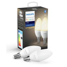 Philips Hue E14 White Smart Candle Bulbs with Bluetooth