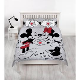 Disney Mickey & Minnie Love Bedding Set - Double
