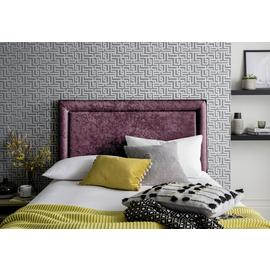 Silentnight Parma Velvet Superking Headboard - Purple