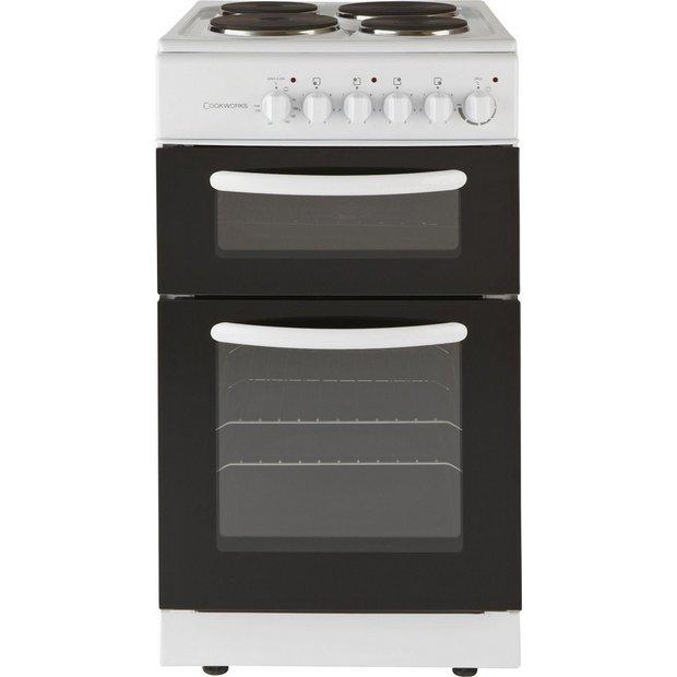 buy cookworks cet50w single electric cooker white ins. Black Bedroom Furniture Sets. Home Design Ideas