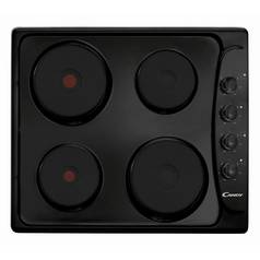 Candy PLE64N Solid Plate Electric Hob - Black