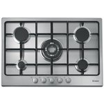 more details on Candy GPG75SQPX 75cm Gas Hob - Stainless Steel.