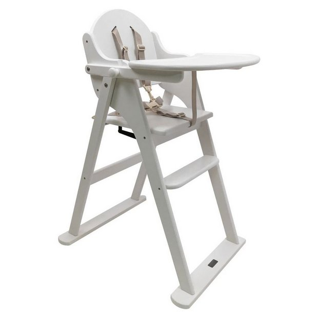 Buy east coast nursery folding highchair white at argos - Chaise haute combelle blanche ...