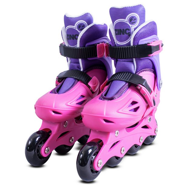 Rollerblades And Toys : Buy zinc inline roller skates pink at argos