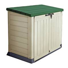 Keter Store It Out 1200L Garden Storage Box – Cream & Green