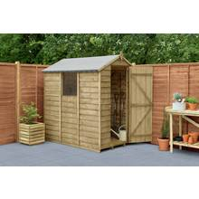 Larchlap Overlap Wooden Shed - 6 x 4ft