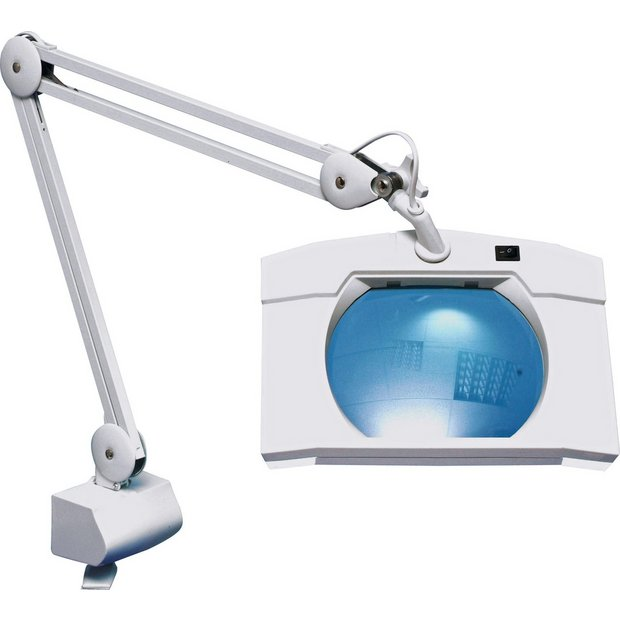 Buy square extendable magnifier lamp with table clamp for Magnifier lamp for crafts