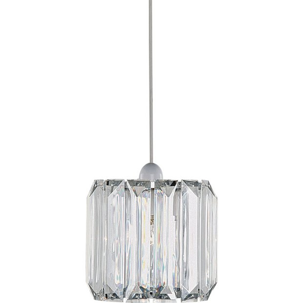 buy argos home natalie drum acrylic shade clear lamp. Black Bedroom Furniture Sets. Home Design Ideas