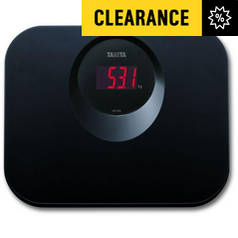 Tanita LED Function Compact Bathroom Scale - Black