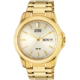 Citizen Eco-Drive Men's Gold Plated Bracelet Watch