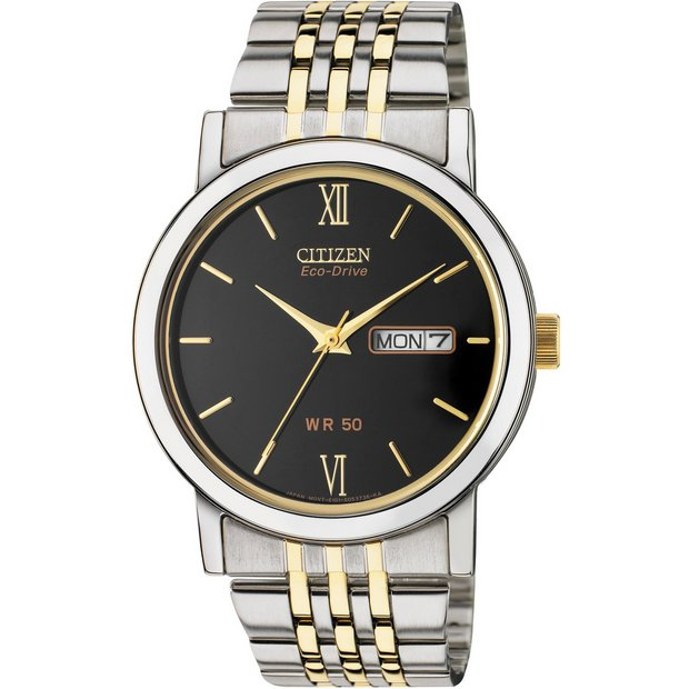 buy men s watches at argos co uk your online shop for jewellery more details on citizen men s two tone eco drive bracelet watch