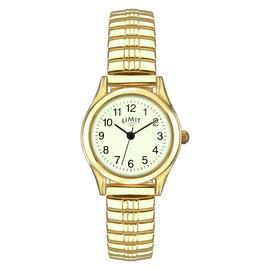 Limit Ladies Glow Dial Gold Plated Expander Watch