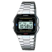 Casio Men's LCD Chronograph Silver Stainless Steel Watch