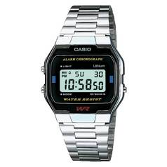 Casio Men's Silver Stainless Steel LCD Chronograph Watch