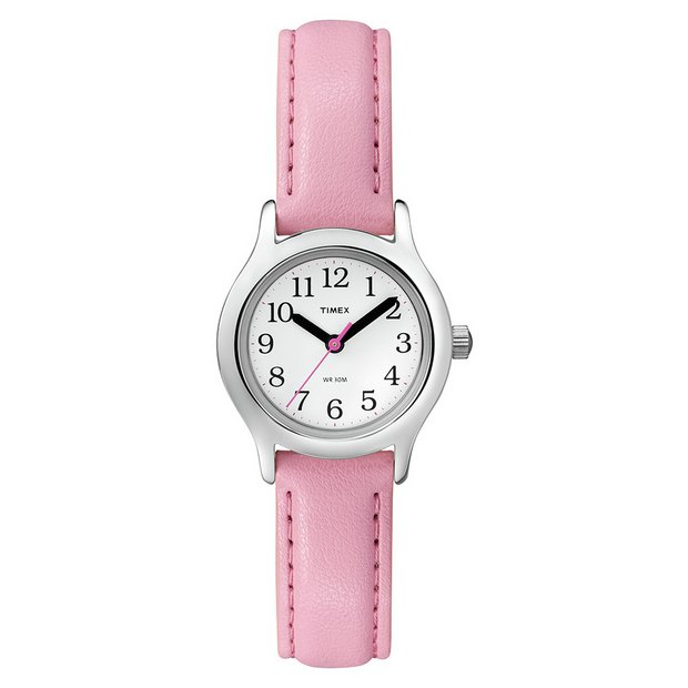 buy timex watches at argos co uk your online shop for jewellery more details on timex girls pink first easy reader leather strap watch