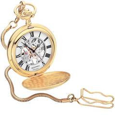 Sekonda Men's Classique Mechanical Skeleton Pocket Watch