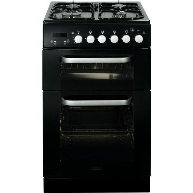 buy baumatic bcg520bl 50cm gas twin cooker black at. Black Bedroom Furniture Sets. Home Design Ideas