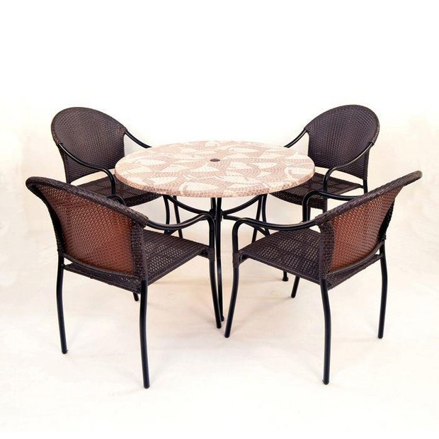Buy Europa Leisure Romano Patio Set With 4 San Tropez Chairs At Your Online Shop