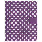more details on Universal 9/10 Inch Polka Dot PVC Tablet Case - Purple.