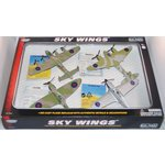 more details on Motormax Sky Wings 6 inch 4 piece Diecast Planes Set.