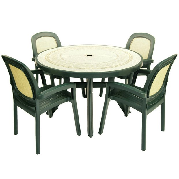 Buy Nardi Toscana Table With 4 Beta Chairs Forest Green At Your Online Shop For