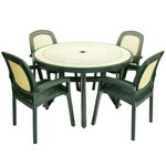 Nardi Toscana Table with 4 Beta Chairs - Forest Green