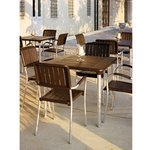 Nardi Maestrale Table with 4 Musa Chairs - Coffee