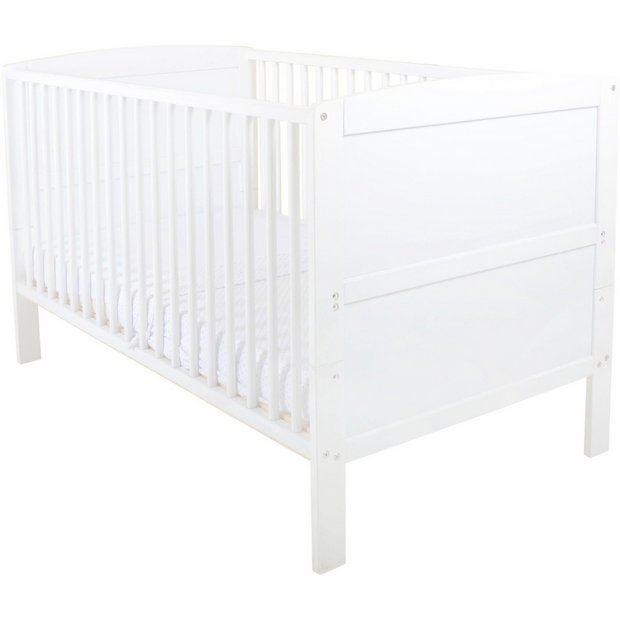 buy east coast nursery hudson cot bed white at. Black Bedroom Furniture Sets. Home Design Ideas