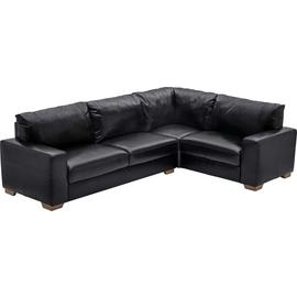 Argos Home Eton Right Corner Leather Sofa - Black