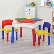 more details on Kids Multi-Purpose Activity Table & 2 Chairs - Multicoloured