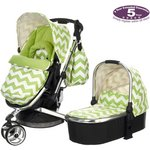 more details on Obaby Chase Stroller & Carrycot – ZigZag Lime.