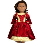 more details on Medieval Queen Dolls Costume - 40-51cm.