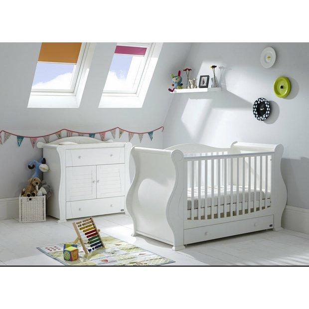 buy tutti bambini marie 2 piece room set white at argos. Black Bedroom Furniture Sets. Home Design Ideas