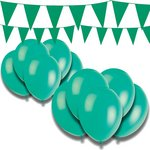 more details on Giant Bunting and Balloon Set - Green.