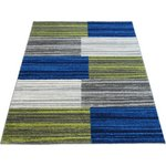 Monte Carlo Blocks Rug 80x150cm - Grey and Blue