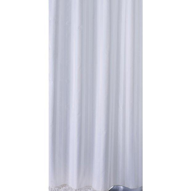 buy sabichi satin stripe shower curtain white at argos. Black Bedroom Furniture Sets. Home Design Ideas