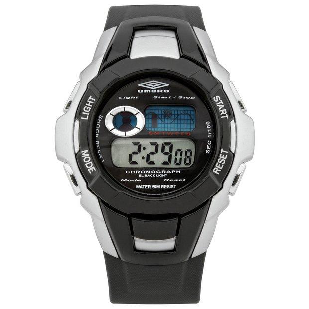 03578063e1d Buy Umbro Chronograph Black Plastic Strap Watch | Kids watches | Argos