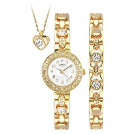 Limit Ladies' Gold Plated Bracelet, Pendant and Watch Set