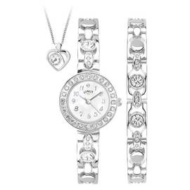 Limit Ladies' Silver Bracelet, Pendant and Watch Set