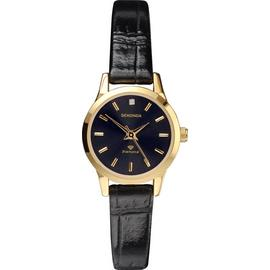 Sekonda Ladies' Diamond Black Strap Watch