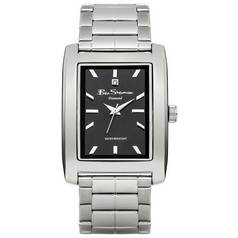 Ben Sherman Men's Silver Diamond Rectangular Dial Watch